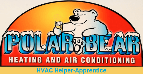 Polar Bear Heating and Air Conditioning HVAC Helper Apprentice