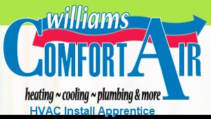 Williams Comfort Air HVAC Install Apprentice